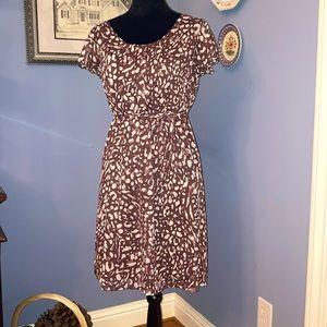 Crepe Leopard Dress